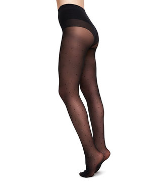 SWEDISH STOCKINGS •• Panty Doris Dots Black