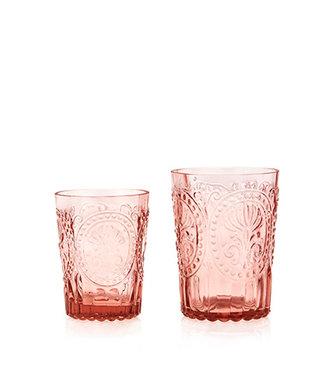 VAN VERRE •• Fleur de Lys Glas Roze