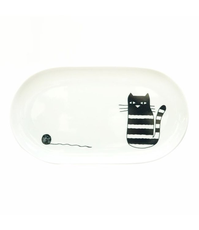 ALL THINGS WE LIKE Oval plate Cat