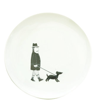 ALL THINGS WE LIKE Breakfastplate man with dog