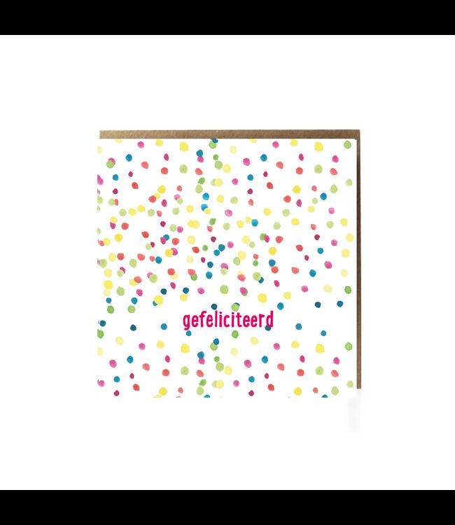 GRAFIQUELIEN •• Gefeliciteerd wenskaart