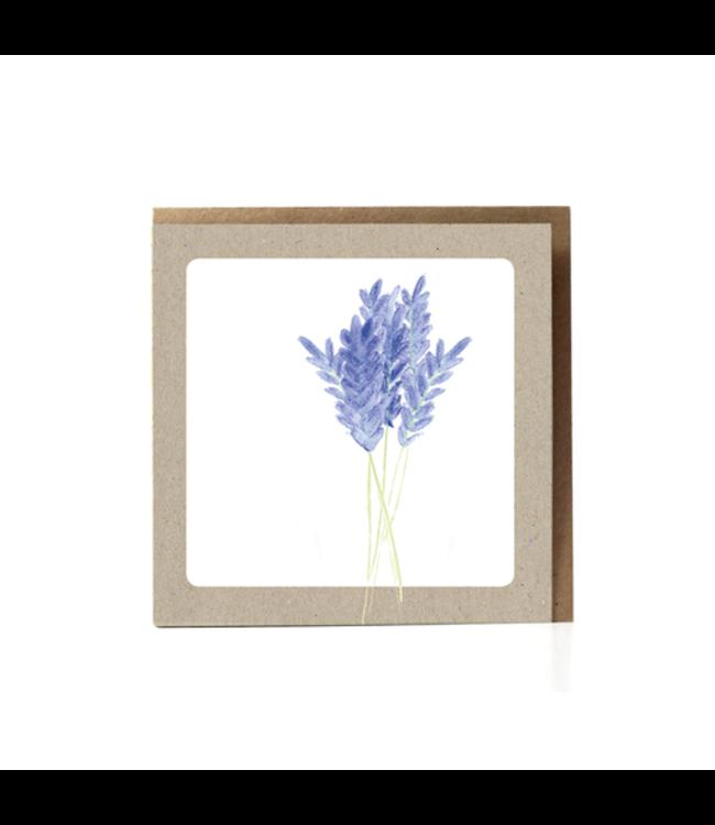 GRAFIQUELIEN Lavendel Wenskaart