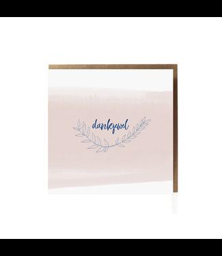 GRAFIQUELIEN •• Wenskaart Dankjewel