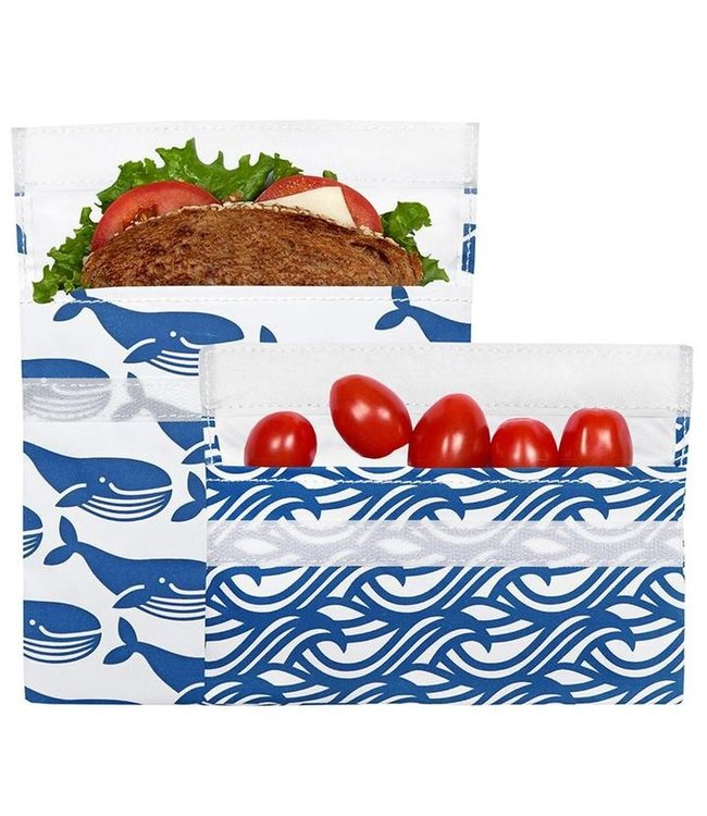 LunchSkins Blue Whale 2-pack Bundle