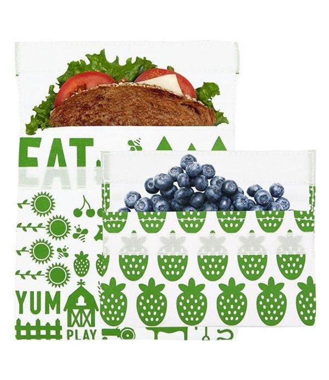 LunchSkins Green Farm 2-pack Bundle