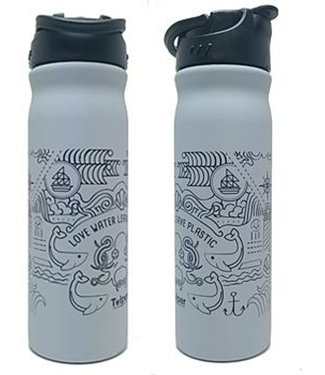 RETULP RVS drinkfles 500ml grey