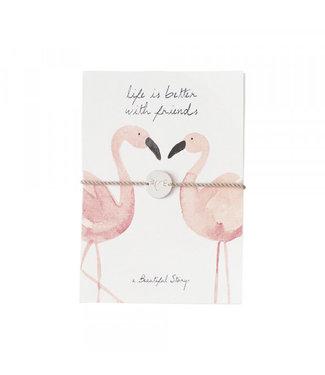 A BEAUTIFUL STORY Sieraden Ansichtkaart Flamingos