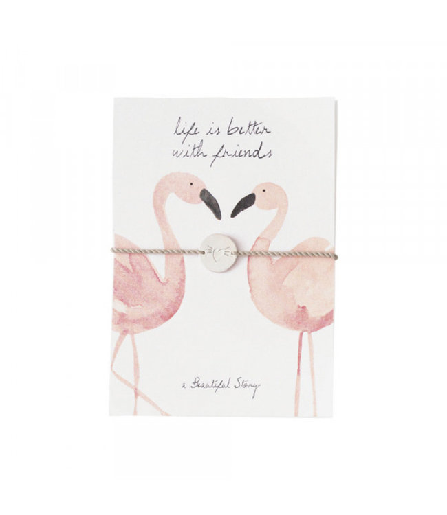 A BEAUTIFUL STORY Sieraden Ansichtkaart Flamingos