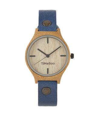 TimeBoo Bamboe Horloge Twist Single zonder Cijfers