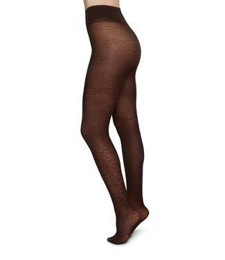SWEDISH STOCKINGS •• Panty Emma Leopard Brown