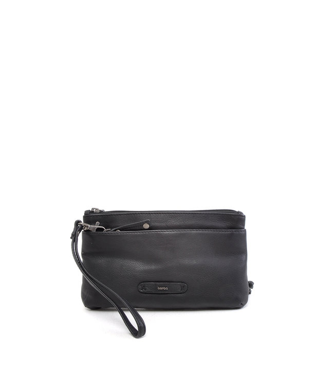 Berba Leren Clutch Scotch • Black