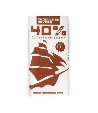 Chocolate Makers Tres Hombres 40% met zeezout