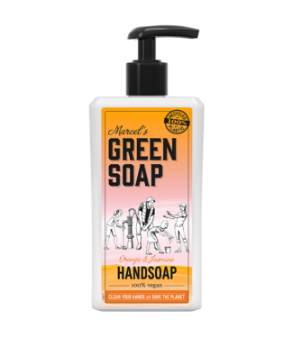 Marcel's Green Soap •• HANDZEEP SINAASAPPEL & JASMIJN (500ML)