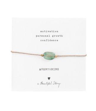 A BEAUTIFUL STORY •• Gemstone Card Aventurijn