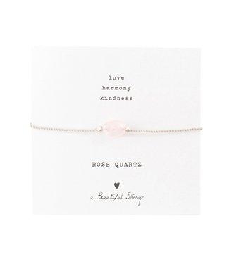 A BEAUTIFUL STORY •• Gemstone Card Rose Quartz