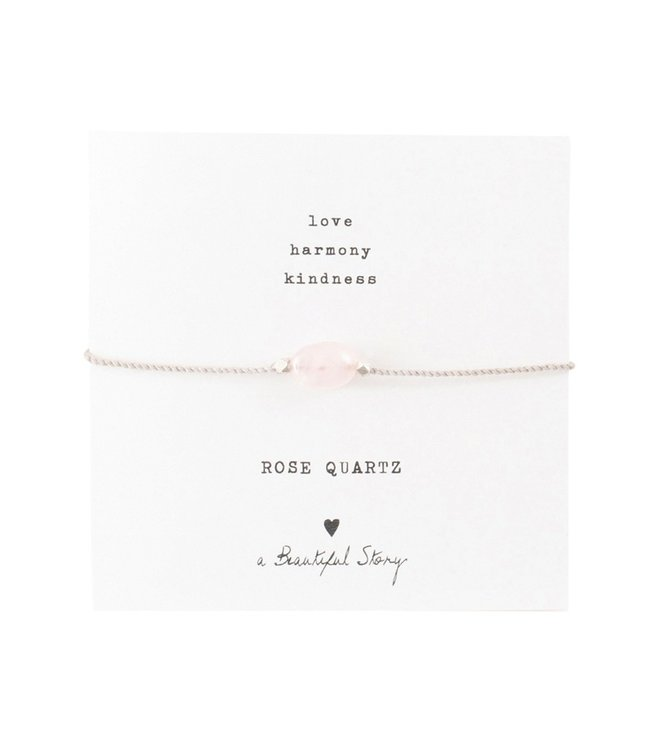 A BEAUTIFUL STORY •• Gemstone Card Rose Quartz