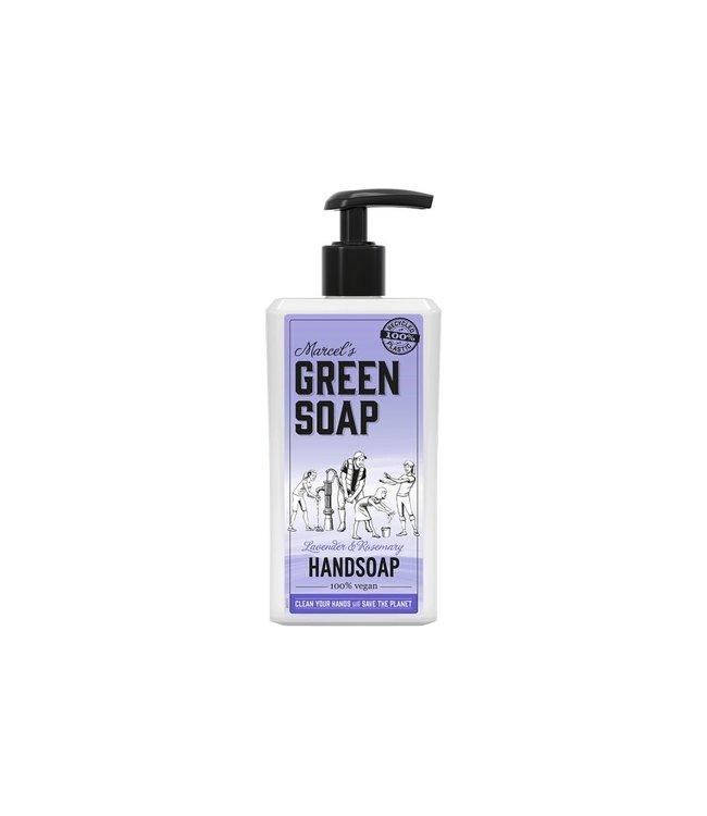 Marcel's Green Soap •• HANDZEEP LAVENDEL & ROZEMARIJN  (500ML)