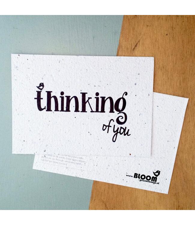 Bloom •• Bloeikaart Thinking of You