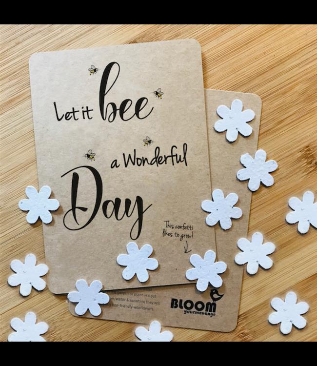 Bloom Confettikaart LET IT BEE