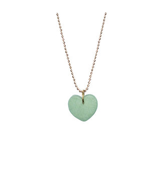 ALL THINGS WE LIKE •• Porseleinen Ketting Heart
