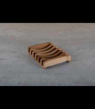 HappySoaps •• Zeephouder van Bamboe donker hout