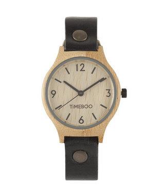 TimeBoo •• Bamboe Horloge Twist Single Zwart