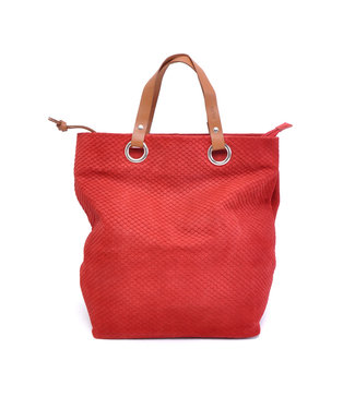 BARBAROSSA •• Leren Shopper Chilli pepper