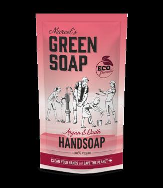 Marcel's Green Soap •• Handzeep navul stazak Argan & Oudh refill