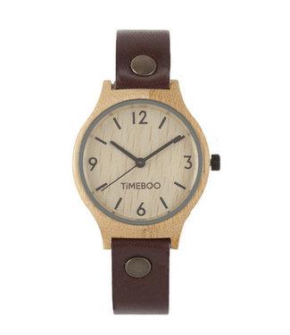 TimeBoo •• Bamboe Horloge Twist Single Mocca