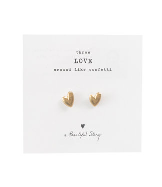 A BEAUTIFUL STORY •• Broche Hearts Goud