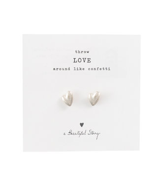A BEAUTIFUL STORY •• Broche Hearts Zilver