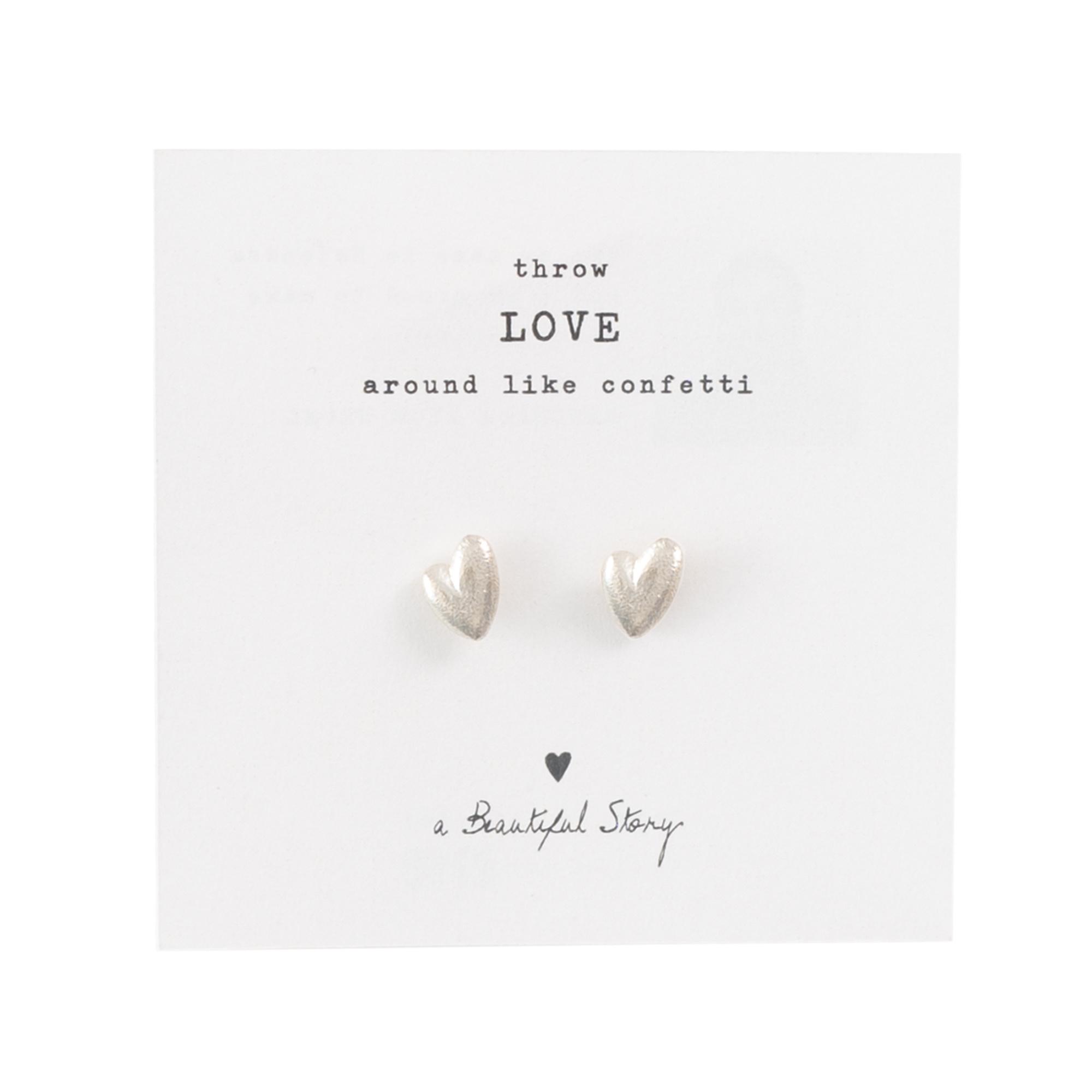A BEAUTIFUL STORY •• Broche Hearts Zilver from De Groene Knoop