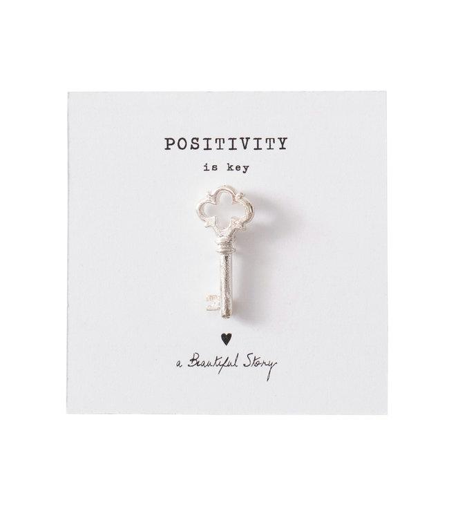 A BEAUTIFUL STORY •• Broche Key Zilver