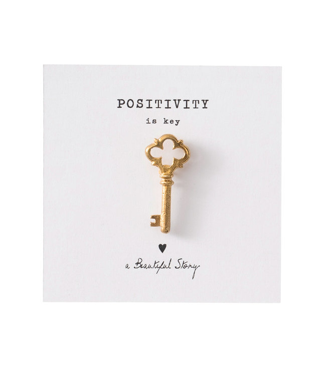 A BEAUTIFUL STORY •• Broche Key Goud