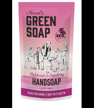 Marcel's Green Soap •• Handzeep Navulzak Patchouli & Cranberry