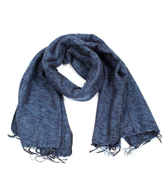 sjaal met verhaal •• Sjaal Jeansblauw Grijs