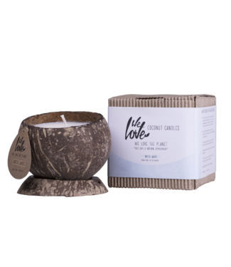 WE LOVE THE PLANET •• Coconut candle Arctic White