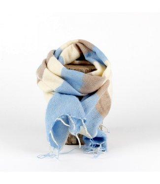 sjaal met verhaal •• Kleine sjaal Babyblauw Crème