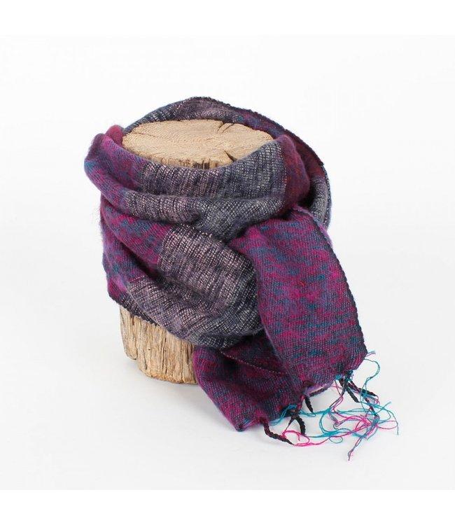 sjaal met verhaal •• Kleine sjaal Bordeaux Aubergine