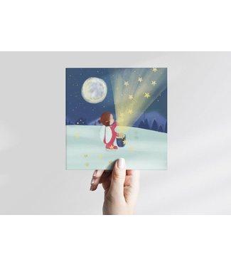 GRAFIQUELIEN •• Kerstkaarten met Sterrenmeisje - Box