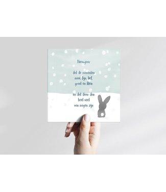 GRAFIQUELIEN ★ Nieuwjaarskaarten met Konijntje - Box