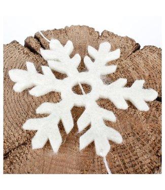 sjaal met verhaal •• Viltslinger Sneeuwvlok