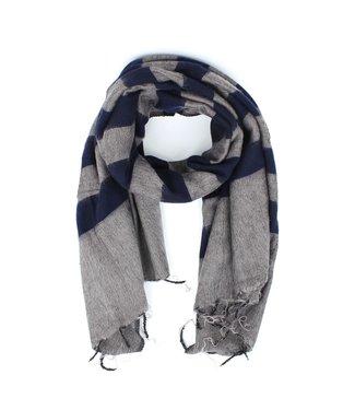 sjaal met verhaal •• Sjaal Taupe Blauw