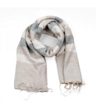 sjaal met verhaal •• Sjaal Crème Grijs