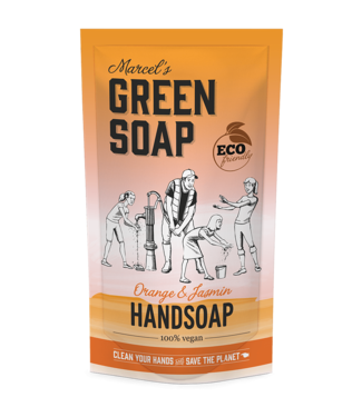 Marcel's Green Soap •• Handzeep navul stazak orange & jasmin
