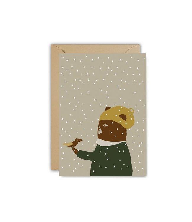 Ted and Tone ★ Eco Winterkaart Snowbird