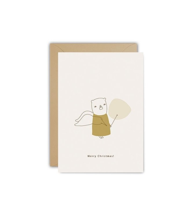 Ted and Tone ★ ECO KERSTKAART Christmas angel