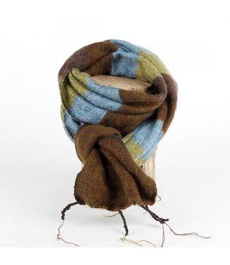 sjaal met verhaal •• Kleine sjaal Blauw Bruin Groen
