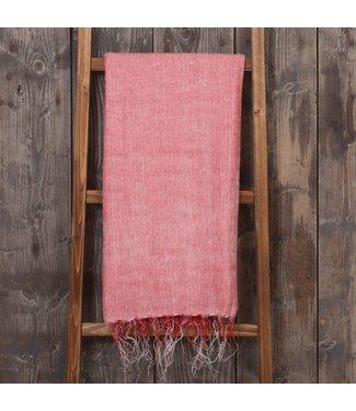 SJAAL MET VERHAAL  •• Plaid  Roze Rood