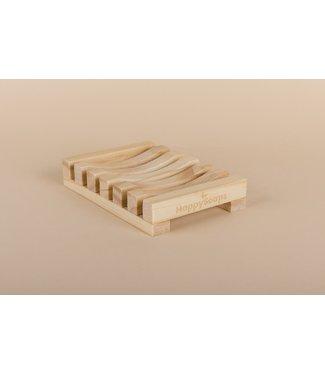 HappySoaps •• Zeephouder van Bamboe  licht hout